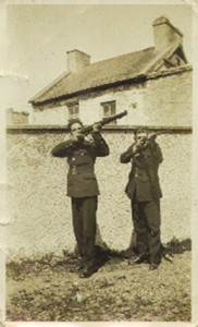 A photograph of Sergeant James Woods (right) and Garda Patrick Spillane taken a short time before the fatal  attack on the Scartaglin station in 1923. Photograph courtesy of Garda Spillane's family.