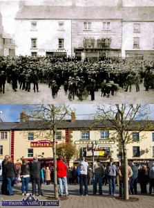 Significant Then. Significant Now:  A then and now look at The Crown Hotel and its neighbours on busy days 100 years apart. ©John Reidy