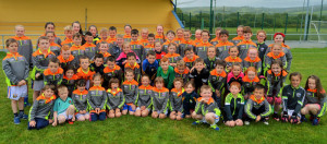 Huge and enthusiastic participation in the Cordal Coiste Na nÓg Kellogg's Cúl Camp at Cordal GAA Club Grounds. Photograph: Nora Fealey/CúlPix.