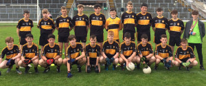 The Currow U-16 team which played Kilcummin in the County League Division 5 final in Fitzgerald Stadium on Wednesday, August  16th.  Front from left:  Justin McCarthy, Tony Horgan, Alan Horgan, Michael Daly, Josh McCarthy, Garry O'Sullivan, Conor Sheahan, Jason Brosnan, Gearoid Coffey and Connie O'Connor.  Back from left:  John Ahern, Dan Daly, John Curtin, Bryan O'Sullivan, Aaron Fleming, Padraig Hillard, Nathan O'Callaghan, Padraig Fleming, Daniel Kelly, David Moriarty and Jack Moriarty.