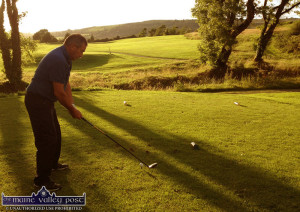 John Cronin from Brosna lining up a drive on the Castleisland course recently. ©Photograph: John Reidy