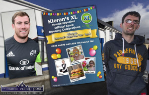 Rugby star, JJ Hanrahan will officially open Kieran McAuliffe's XL Store in Knocknagoshel on Saturday with a whirl of events from 11am to 2pm. ©Photograph: John Reidy