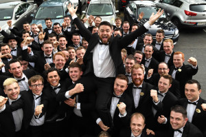 Thomas Lynch being hailed as the 2017 Rose Escort of the year by his fellow escorts. ©Photograph: Dominick Walsh.