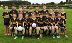 The Currow U-10 team which played in the Paddy O'Leary Blitz on Sunday in Gneeveguilla. Front from left: Sean Dennehy, David Healy, Ben Brosnan, Ruairi Brosnan, Joshua Ryan, Darragh O'Sullivan, Harry Crowley and Rory O'Connor. Back from left: Eric Jensen, Frank Wharton, Sean O'Sullivan, Anthony Galvin, Joe Moriarty, Daniel McCarthy, Josh Daly, Sean Horan, Steven McCarthy and Brid Curtin.