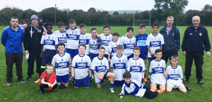 Desmonds U-12 team and mentors, John Downey, Colm Nolan, Séamus Conway and Dominick O'Shea. They play at home in the Castleisland District final this evening at 6:30pm against Knock/Brosna. Photograph: Gerdie Murphy