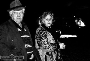 The late Michael and Elizabeth O'Brien pictured on the evening on which the van was burned out at Glounsharoon. ©Photograph: John Reidy 19-2-1993