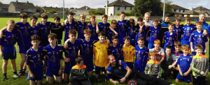 The Ballymacelligott U-14 team and mentors which qualified for the Castleisland District A final where they will play the combination team of Knock/Brosna/Duagh.