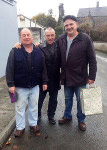When Shall.... Pats Commane (left) with Denis Cronin and Jimmy Mitchell on Old Church Lane on Saturday. ©Photograph: John Reidy