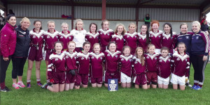 Going for the Double: The 2017 Scartaglin Ladies U-14 County League Champions. The team and mentors will be aiming to capture the double on their history making appearance on the sod of Fitzgerald Stadium on Monday afternoon when the face Legion in the East Kerry final at 5:30pm.  Front from left:  Abbie Kelliher, Orlaith O'Connor, Muireann Rahilly, Maire Collins, Ciara Casey, Michaela Buckley, Tara Kerins, Mollie Mahony, Katie Kerins and Emma Kerins. Back from left: Anna Kerins and Anne Boyle, mentors;  Shauna Tangney, Abbie Mahony, Tara Enright, Bernadette O'Mahony, Rachel O'Sullivan, Grainne Walsh, Muireann Walsh, Leah Boyle, Aoife Walsh, Aoife Kerins, Jane Lawlor, Grace O'Callaghan, mascot and Melissa O'Callaghan, mentor.