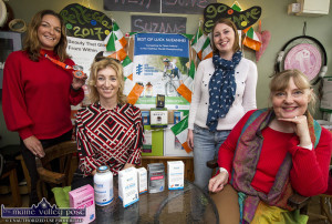 At the welcome home / well done reception for Suzanne O'Sullivan (left) were, from left: Kerry O'Connor, Naturalife Nutritional Therapist; Mellie O'Sullivan, Slice of Life and Monica O'Connor, Proprietor, Slice of Life, Castleisland and Abbeyfeale. ©Photograph: John Reidy