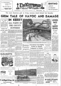 The Kerryman in September 1961 chronicled what Hurricane Debbie did to Kerry. And Ophelia is being compared to Debbie in severity and origin.