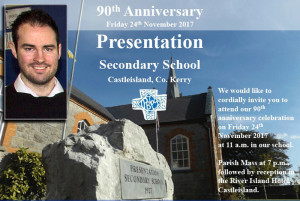 Teacher and event spokesperson, Pierce Dargan is part of the preparations team at 'The Pres' secondary school for tomorrow's celebrations.