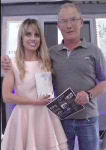 Tralee author, Audrey Reidy pictured with her dad and Castleisland native, Martin as she prepares for the launch of her first novel, Hysteria on this Friday.