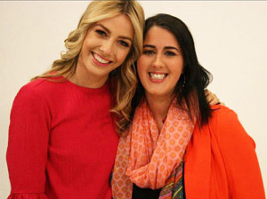 Programme presenter, Bláthnaid Tracey (left) with Siobhán Ní Lioncháin during the making of the programme last summer.