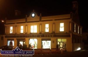 The Market House: all lit up on a frightfully busy night for the Castleisland Chamber Alliance Halloween Spooktacular. ©Photograph: John Reidy