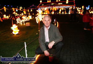 Tony Noonan pictured with his Charity Christmas Lights at his home in Templeglantine. ©Photograph:  John Reidy