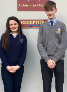 Students, Eibhlís Brosnan and Darragh Bourke looking forward to Easter and the trip to China.