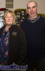 Guest presenter, Máire O'Keeffe pictured with Handed Down co-founder, P.J. Teahan during her previous visit to Scartaglin. ©Photograph: John Reidy