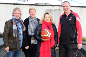 St. Mary's basketball Club Chairman Maurice Casey (right) pictured with Den Joe O'Connor, Reidín O'Loughlin and Angela O'Connor at the launch of details on Friday morning.