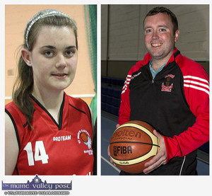 St. Mary's Captain, Aoife Nolan and Coach Liam Culloty will lead their team to into the NICC National Cup Final in Dublin on January 28th ©Photographs: John Reidy