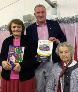 At the book launch and 50th celebrations were: former teacher, Ita Barrett (left) with: Cllr. Liam Galvin and Ita O'Connor a sister of the late Sean Harnett who made a significant donation when the school was built 50 years ago.
