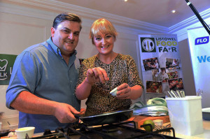 Simon Delaney, actor, chef and writer with Lizzie Lyons on whom he will pay a visit in Listowel later this month.  Photograph: Don MacMonagle