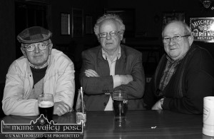 The way you'd be after a Kerry All-Ireland Senior Football final defeat. The late Denny O'Sullivan (centre) with Tom Twomey (left) and the late  Sean Brennan in Brennan's Bar. GPhoto by John Reidy