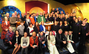 Parishioners at the RTÉ Mass on Sunday, February 11th with  celebrant Fr. Dan O'Riordan. The list of names of the those taking part are included in the article here.  Photograph: Nora Fealey