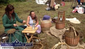 Basket making in medieval dress at the 2017 Fairy Festival in Kilflynn. ©Photograph: John Reidy