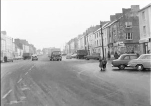 A still of Lower Main Street from the RTÉ visit in 1968.