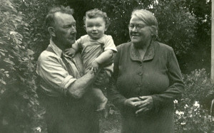 Johnny and Ellen Reidy with their grandson, John Reidy in Knocknagore, Castleisland circa summer 1954. Less than a decade later I would have been reading his racing books and newspapers.