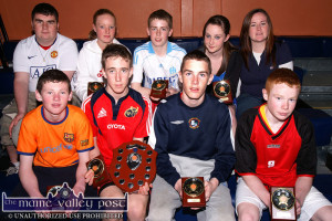 Flashback: Winners in the 2009 KDYS / Garda Basketball Blitz at Castleisland Community Centre .  Front from left: Robert O'Brien, Shane O'Connor Paul White and Eoin Murphy. Back row: Garry O'Sullivan, Coach;, Niamh O'Connell, Timothy O'Connell, Sarah O'Connor and Stacey O'Sullivan, Coach.   ©Photograph: John Reidy