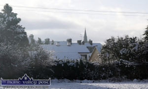 Let It Snow: Driving conditions are still considered to be dangerous. ©Photograph: john Reidy
