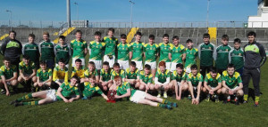 The St. Patrick's Secondary School Castleisland winning team that won the Kerry Post Primary Schools U16 ½ Joe O'Connor Shield on Tuesday by defeating Castlegregory. Names and club affiliations at the end of the report.