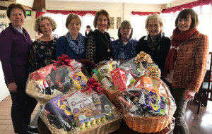 At the Easter Hamper Competition presentation at Castleisland Members Golf Club. From left: Lelia Moloney, Esther Ward, Veronica O'Connor, Mary Cross, Julianne Browne, Mary Ann Downes, lady captain and Catherine Walsh.