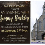 Tickets on Sale for Jimmy Buckley Concert in Brosna