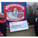Castleisland RFC Presents Final Split the Bucket Cheque – For Now