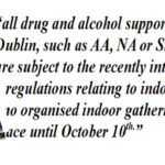 Pa Daly TD, Issues Statement on Addiction, Recovery and Support Groups