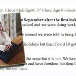 My Lockdown Story: Chloe McElligott, Third Class, Age 9 – since February 2nd