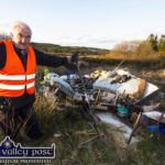 Cllr. Farrelly Collects Pan Full of Evidence from Latest Dumping Disgrace on Ahaneboy